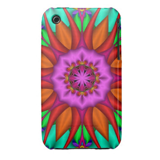 Sunset Flower, Decorative floral iPhone 3 Cover