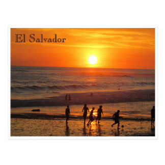 sunset football postcard