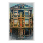 Sunset for a Victorian in SanFrancisco Mission SFC Print