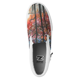 Sunset Forest Slip on Shoes Printed Shoes