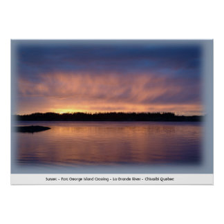 Sunset - Fort George Island Crossing  Poster