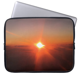 Sunset from an Aircraft Laptop Cover Computer Sleeve