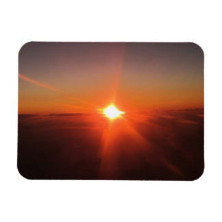 Sunset from an Aircraft Photo Magnet