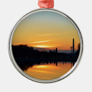 Sunset from Capitol Hill. Christmas Ornament