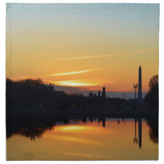 Sunset from Capitol Hill. Napkin