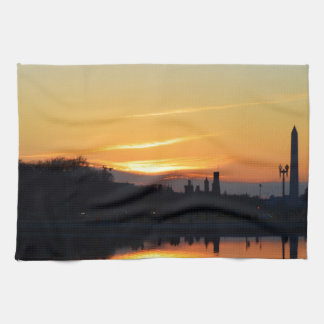 Sunset from Capitol Hill. Tea Towels