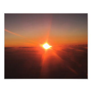 Sunset from Flying Aircraft Photo