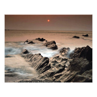 Sunset from Ilfracombe Beach, North Devon, England 21.5 Cm X 28 Cm Flyer