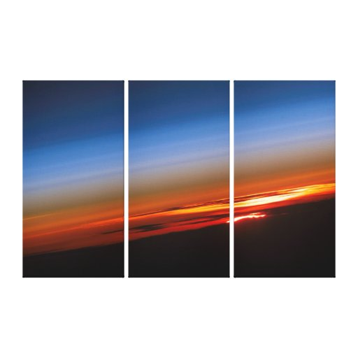 Sunset from International Space Station Gallery Wrapped Canvas
