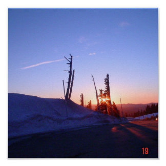 Sunset from Mt Hood Posters