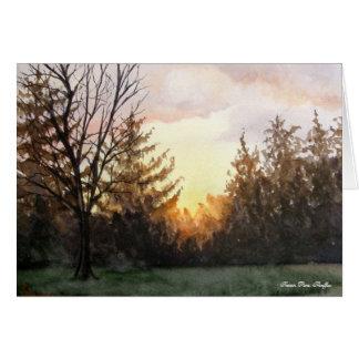 Sunset from my studio window card