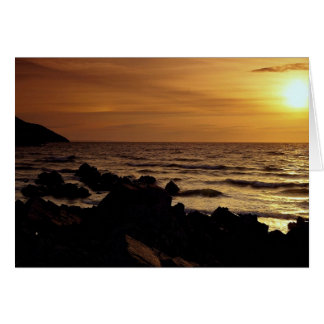Sunset from Putsborough Beach, Woolacombe Bay, Nor Card