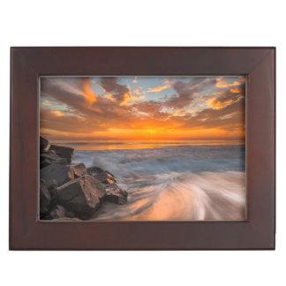 Sunset from Tamarach Beach Keepsake Box