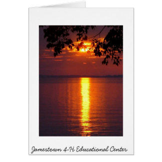 Sunset from the Jamestown 4-H Educational Center Greeting Card