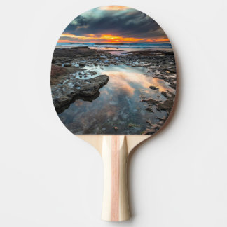 Sunset from the tide pools ping pong paddle