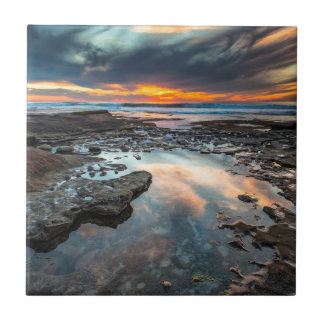 Sunset from the tide pools tile