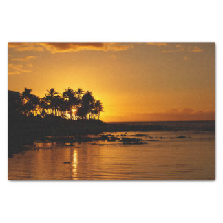 Sunset from Waikoloa Tissue Paper