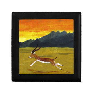 Sunset Gazelle wildlife art Gift Box