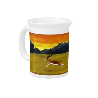 Sunset Gazelle wildlife art Pitcher