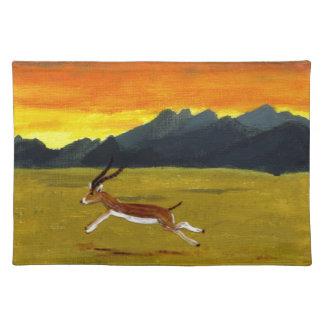 Sunset Gazelle wildlife art Placemat