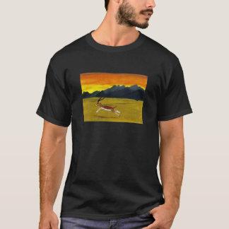 Sunset Gazelle wildlife art T-Shirt