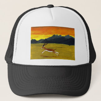 Sunset Gazelle wildlife art Trucker Hat