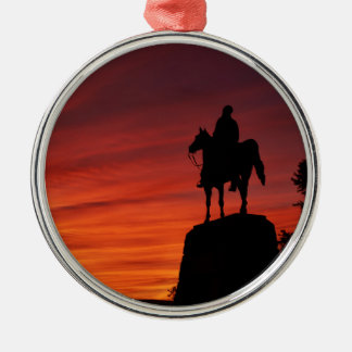 Sunset - Gettysburg National Park - Meade Memorial Christmas Ornament