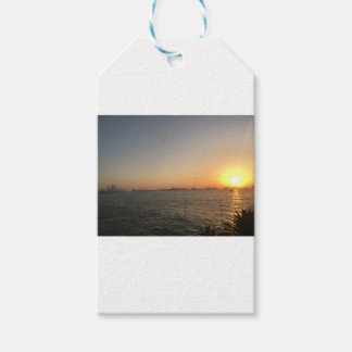 sunset gift tags