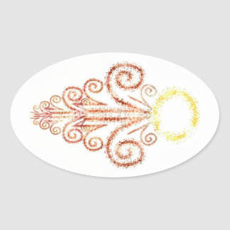 Sunset Givings Oval Stickers