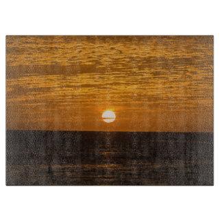 Sunset glass cutting board
