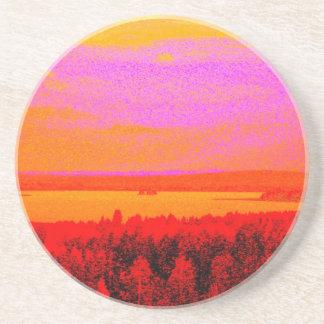 Sunset glow coasters