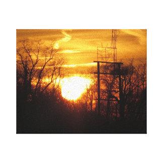Sunset Golden - Cherry Hill NJ USA Fine Decoration Canvas Prints