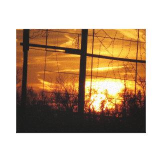 Sunset Golden - Cherry Hill NJ USA Fine Decoration Gallery Wrap Canvas