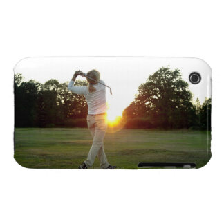 Sunset golf swing Case-Mate iPhone 3 case