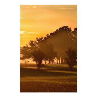 Sunset Golfers Dream Customized Stationery