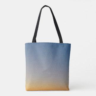 sunset gradient background blue orange evening sky tote bag
