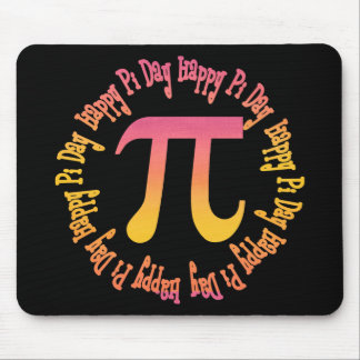 Sunset Gradient Pi Day Gifts and Tees Mouse Pad