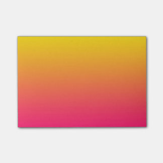 Sunset Gradient Yellow to Deep Pink Color Ombre Post-it Notes