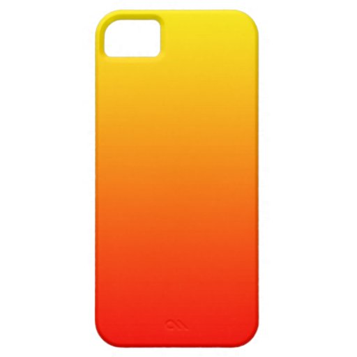 Sunset Gradient Yellow to Deep Red Color Ombre iPhone 5 Cases