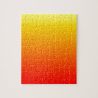 Sunset Gradient Yellow to Deep Red Color Ombre Jigsaw Puzzle