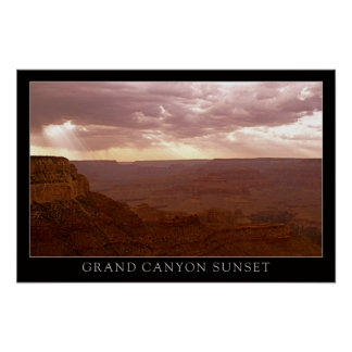 Sunset Grand Canyon Posters