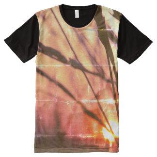 Sunset Grass Romantic Panel T-Shirt