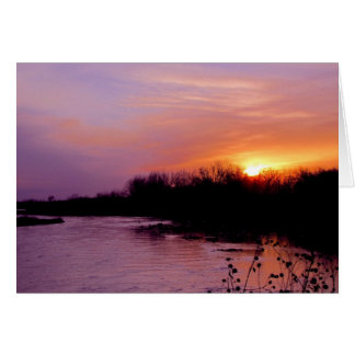 Sunset Greeting Card #65  065