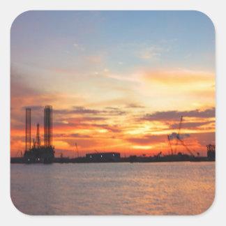 sunset gulf sticker