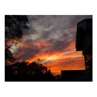 Sunset Hartford,Al Postcard