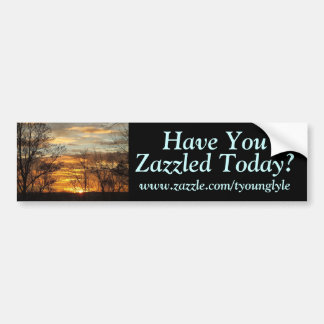 Sunset Have You, www.zazzle.com/tyounglyle, ... Bumper Sticker