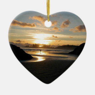 Sunset Heavenly Ceramic Heart Decoration