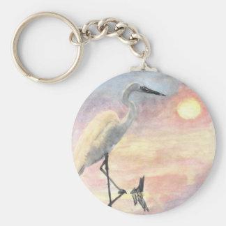 Sunset Herons keychain