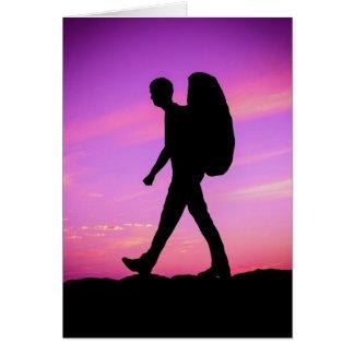 Sunset Hike Greeting Card