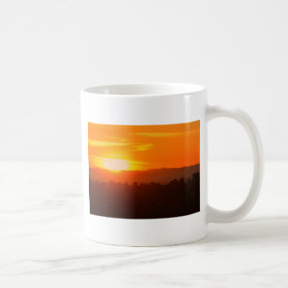 Sunset Hollywood Los Angeles Orange Sky Orange Sun Coffee Mug
